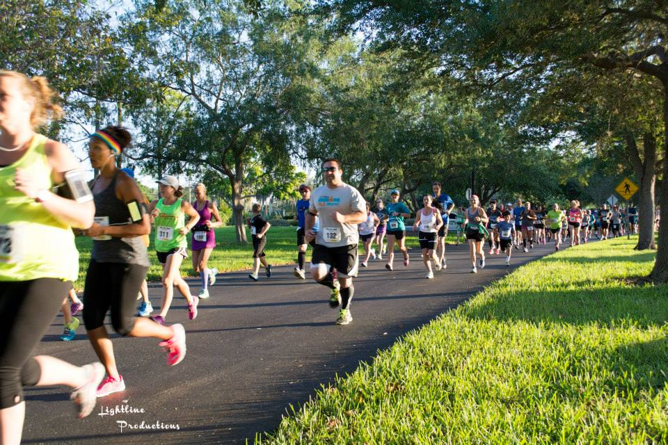 10K runners in the 2015 Inaugural May Day 10K in St. Petersburg, FL.