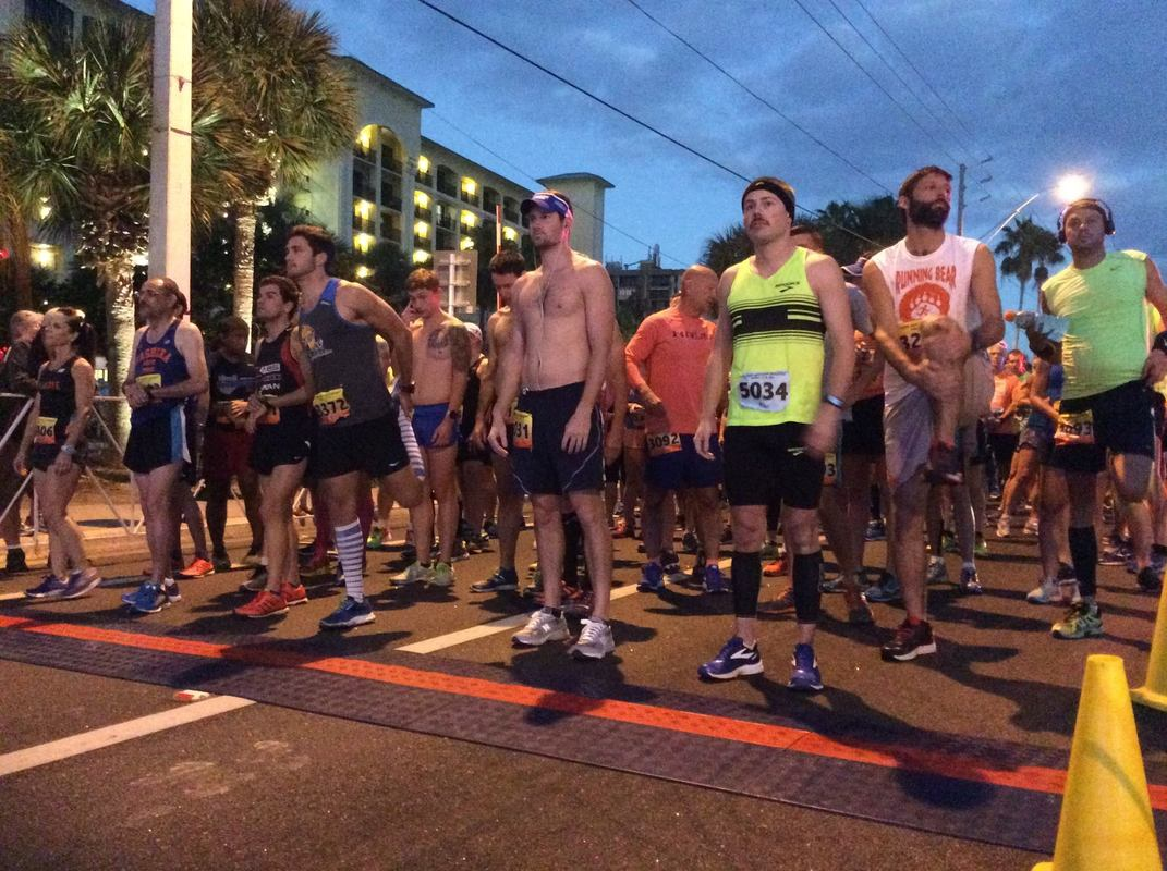 Starting line for the 2017 St. Pete Beach Classic Half Marathon.