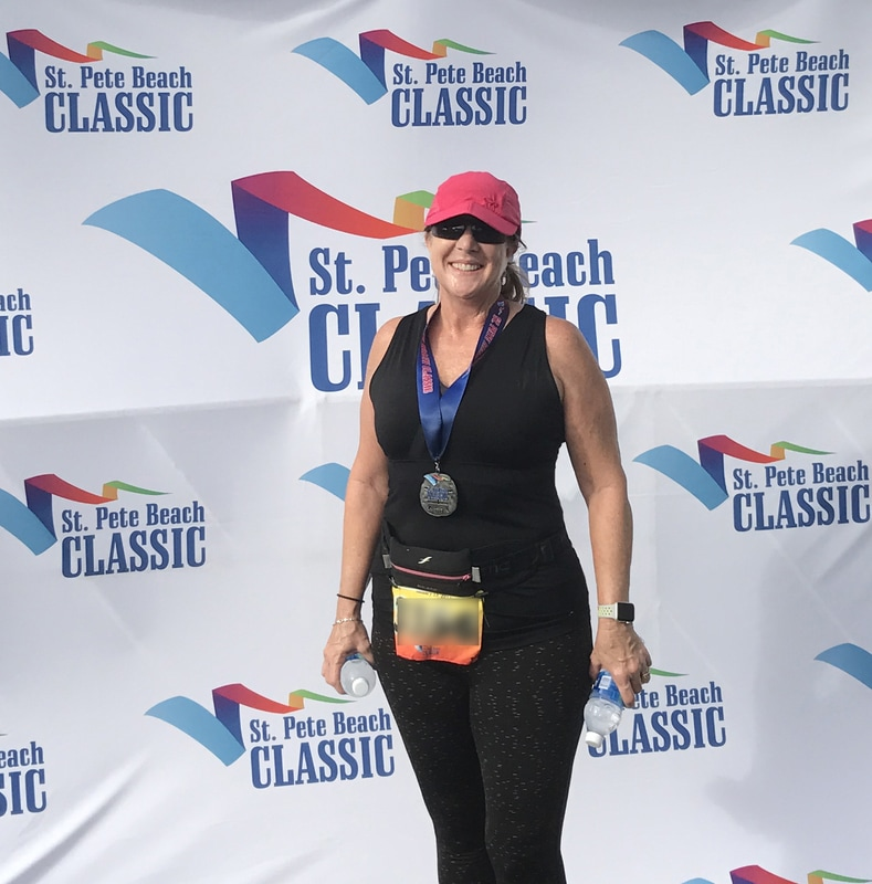 2017 St. Pete Beach Classic Half Marathon Finish.