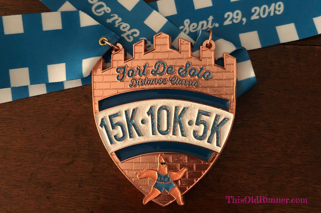 Fort DeSoto finisher medal for Sunday, September 29, 2019