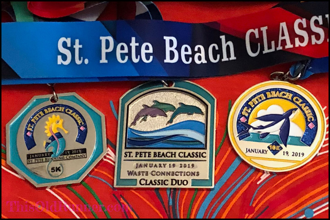 St Pete Beach Classic 2019 Medals for 10K 5K Challenge