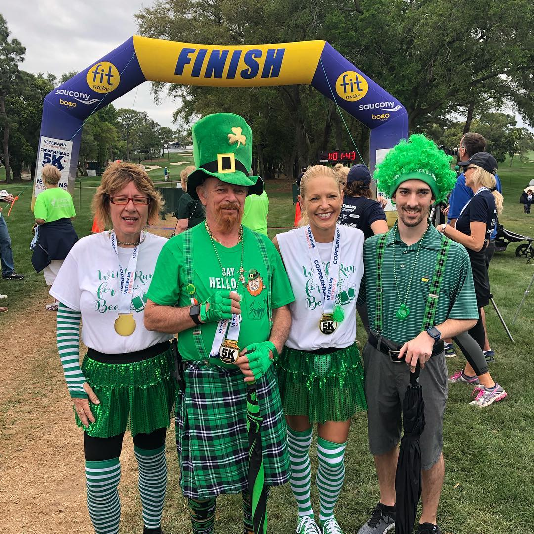 People in costume at the St. Patrick's Day Copperhead 5K