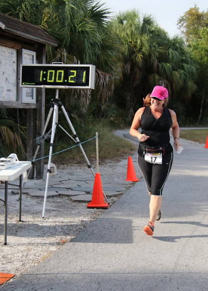 This Old Runner finishes the 2016 Weedon Island Preserve 8K Trail Race.