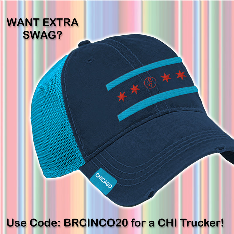 Chicago Trucker Hat with 4 red stars.