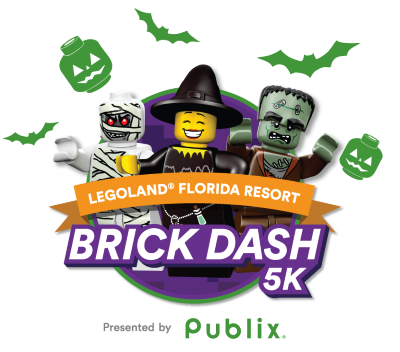 Logo for the Legoland Brick Dash 5K in Orlando.