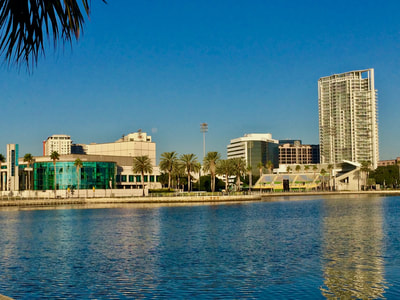 Downtown St. Petersburg, FL waterfront by Mahaffey Theatre.