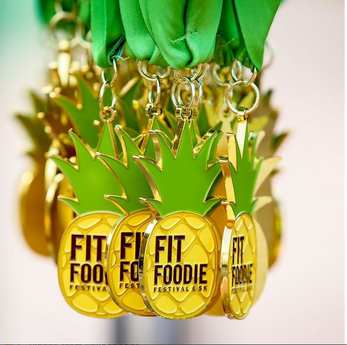 2017 Fit Foodie Festival and 5K Medal Clearwater, FL