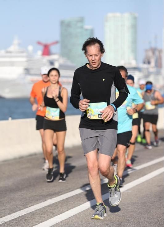 Runners in the 305 Half Marathon in Miami, Florida.