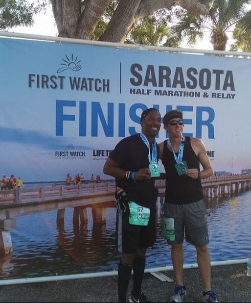 Picture spot at First Watch Sarasota Half Marathon.