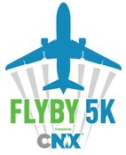 FLYBY 5K logo for Pittsburgh Airport race.