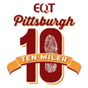 EQT Pittsburgh 10 Miler Race logo.