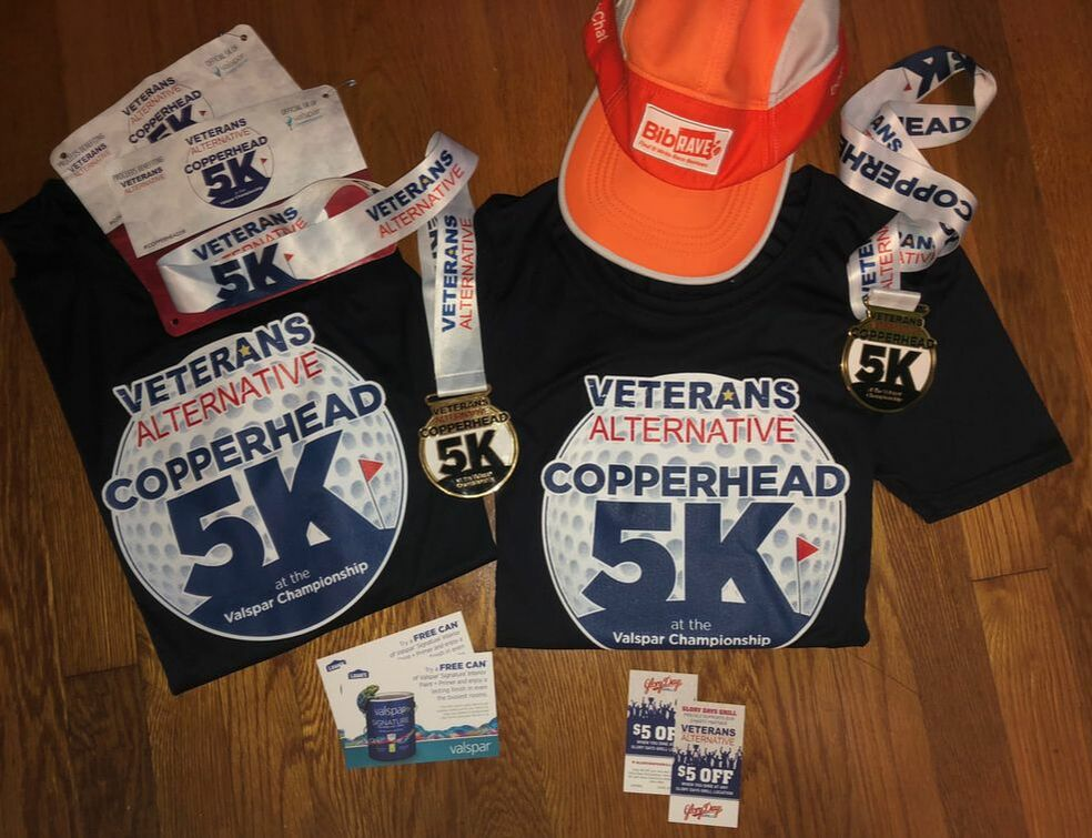 SWAG from the 2019 Copperhead 5K
