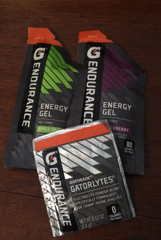 Gatorade endurance gel and electrolytes