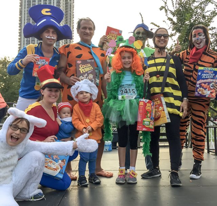 The Cereal Crew enter the costume contest at Pumpkins in the Park 5K in Chicago.