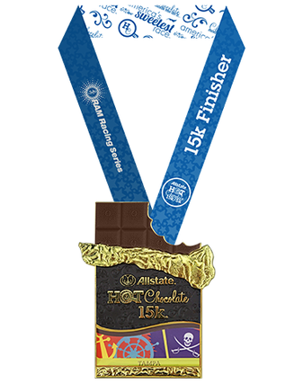 2018 Hot Chocolate 15K Tampa finisher medal