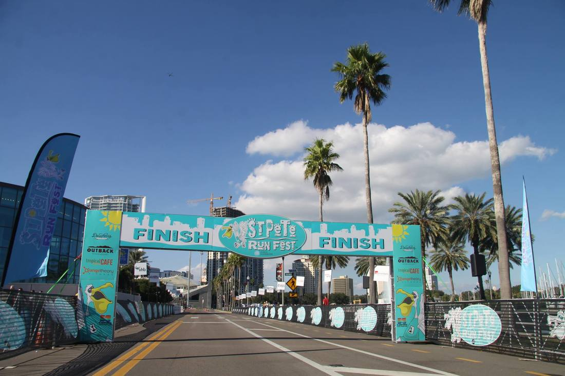 Finish Line for St Pete Run Fest