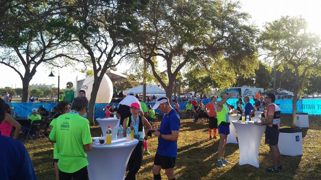 2018 First Watch Sarasota Half post race party.