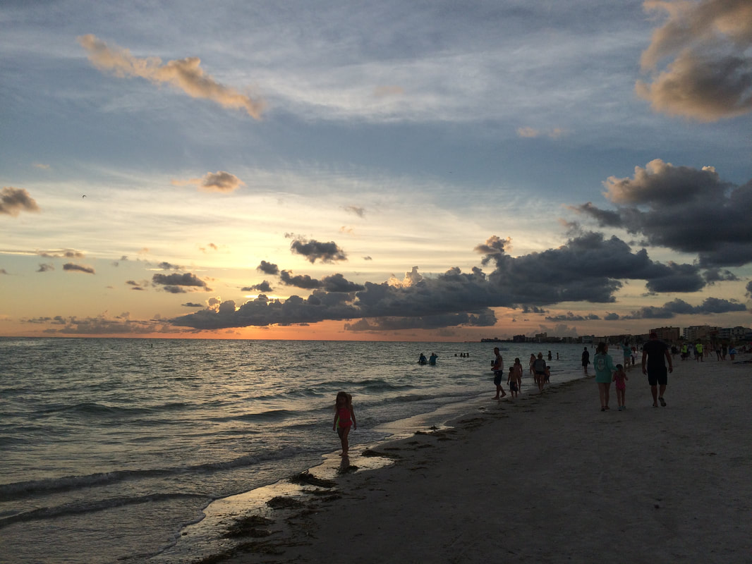 Beautiful July sunset on Madeira Beach, FL