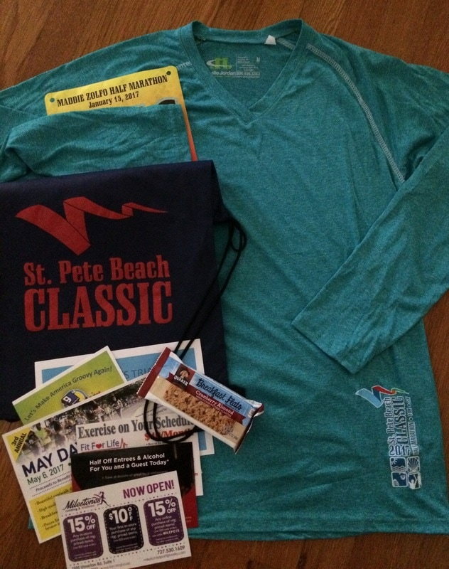 Swag Bag for the SPB Classic Half Marathon racers.