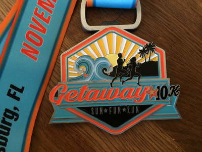 10K Finisher Medal for Inaugurals St. Pete #Getaway10K race.