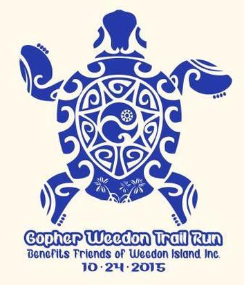 Logo for Gopher Weedon Trail Run for benefit of Weedon Island Preserve in St. Petersburg