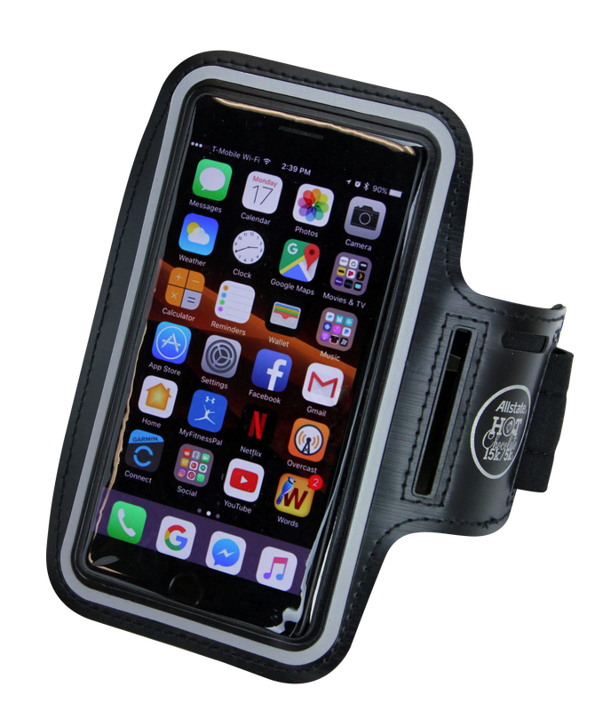 Hot Chocolate 15K armband phone holder.
