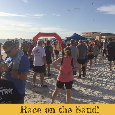 Starting line for Madeira Beach 5K Sunset Run.