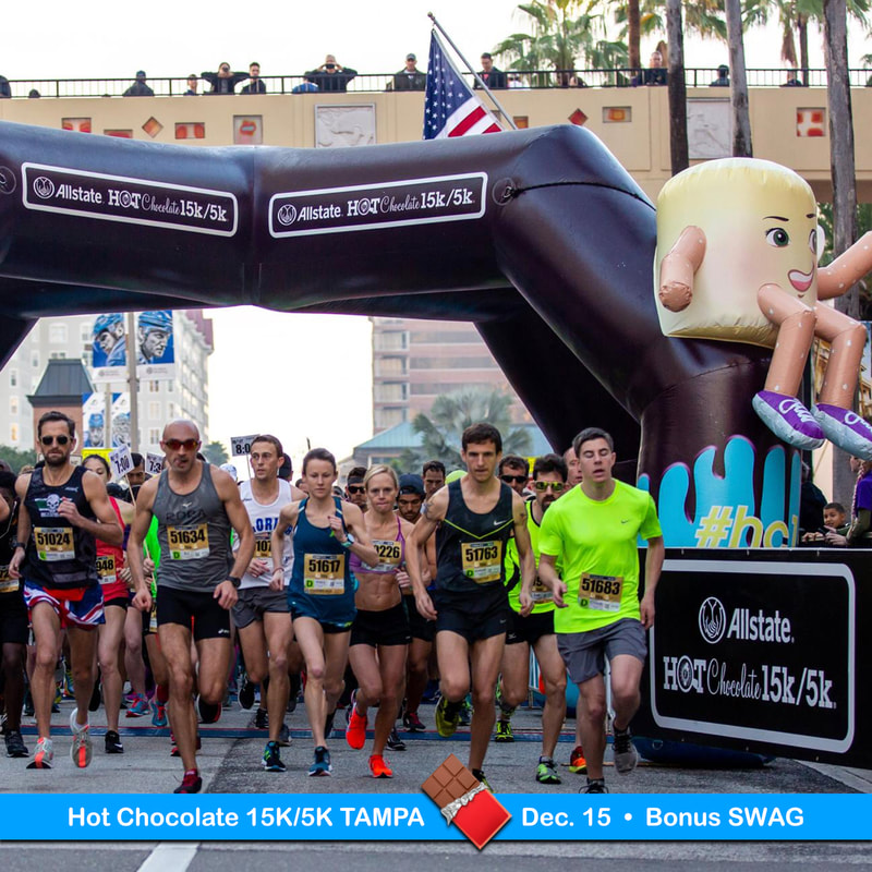 Start line of the Allstate Hot Chocolate 15K in Tampa.