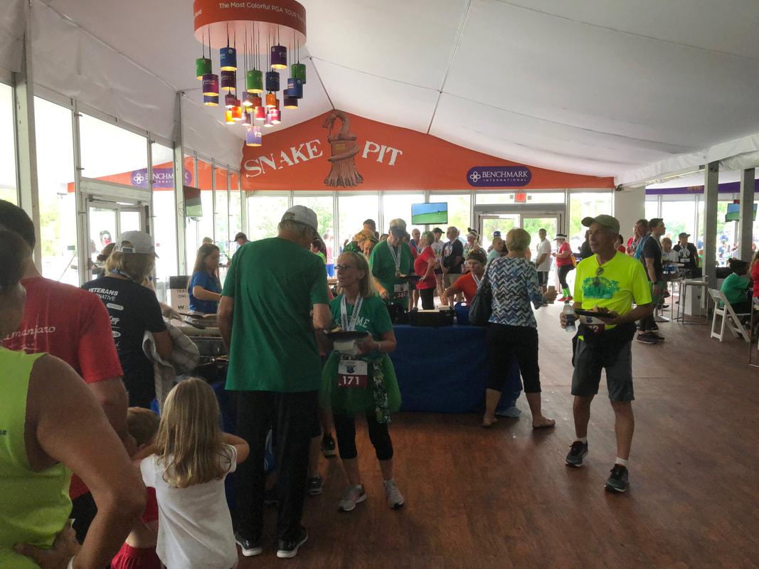 Hospitality tent party after the Copperhead 5K.