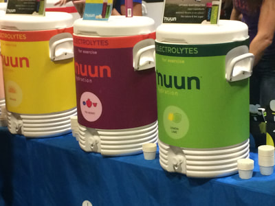 Nuun hydration station at the Hot Chocolate Tampa expo.