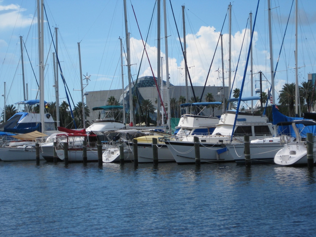 Yacht basin in downtown St. Petersburg, FL.