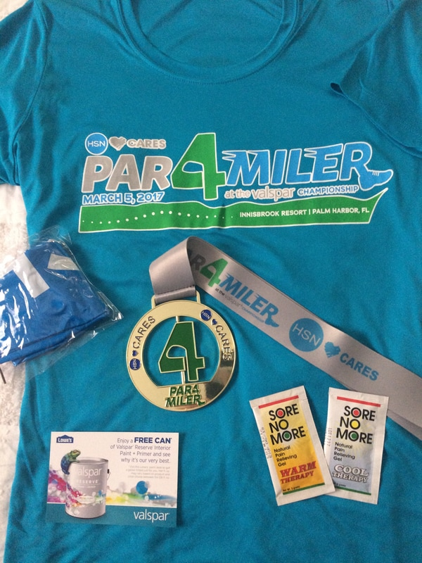 2017 Par4Miler race goodies.