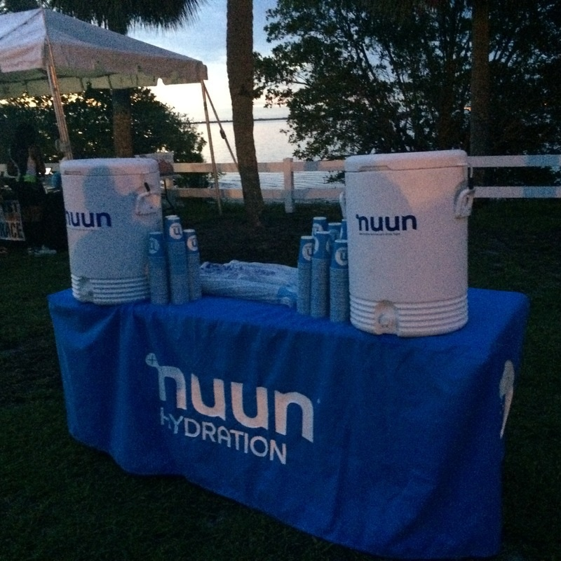 Coolers filled with Nuun hydration drink.