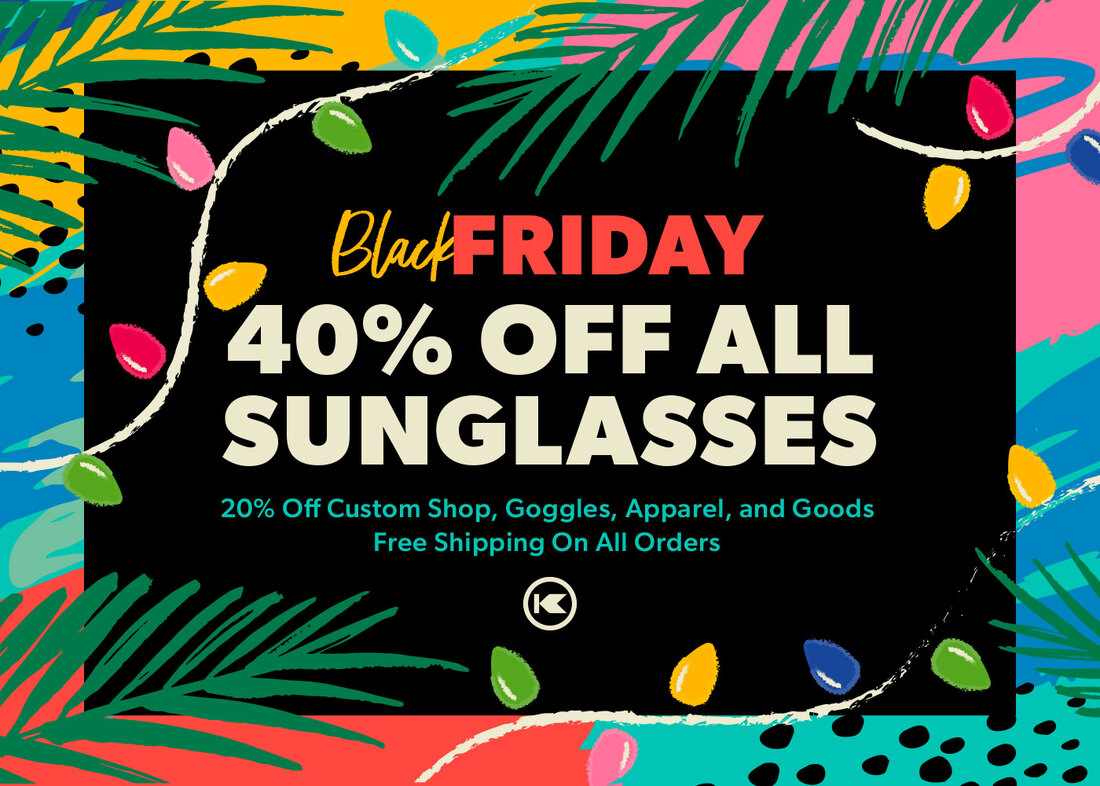 Graphic promoting 40% off all Knockaround sunglasses for Black Friday Sale.