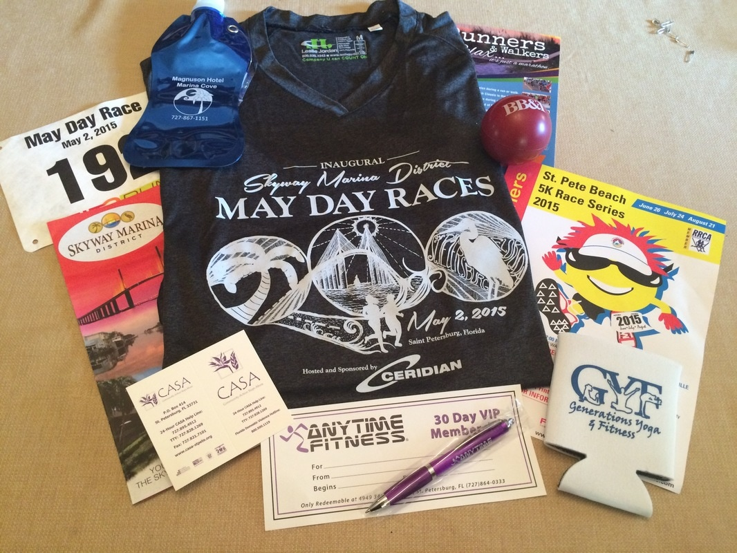 Goodie bag for 2015 May Day 10K Runners.