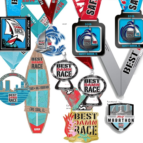 Win one of 20 medals when you run the Best Damn Race Leftover 5K in Safety Harbor, FL.