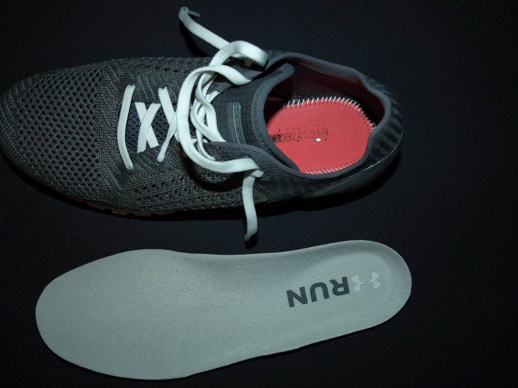 Removable insole on UA HOVR Sonic running shoes