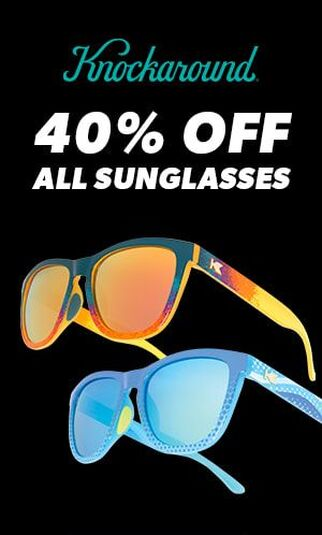 Image of sunglasses with headline 40% off all sunglasses.
