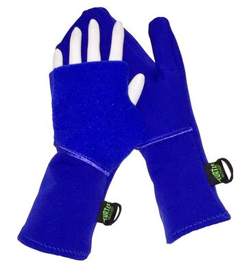 Pair of blue Turtle Gloves for runners.