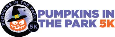 Pumpkins in the Park 5K race logo.