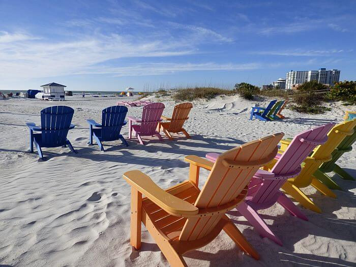 St Pete Beach chairs on the sand