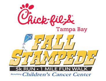 Logo for Chick-fil-A Fall Stampede 5K Run.