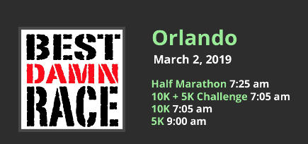 Date and Start Times for Best Damn Race in Orlando, FL