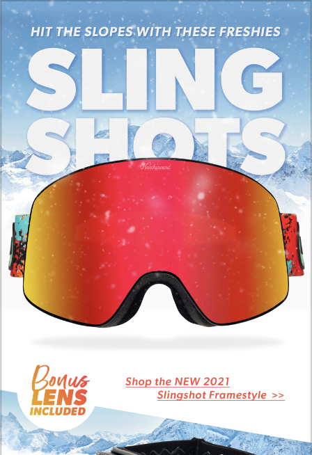 Photo of Knockaround Sling Shot snow goggles.