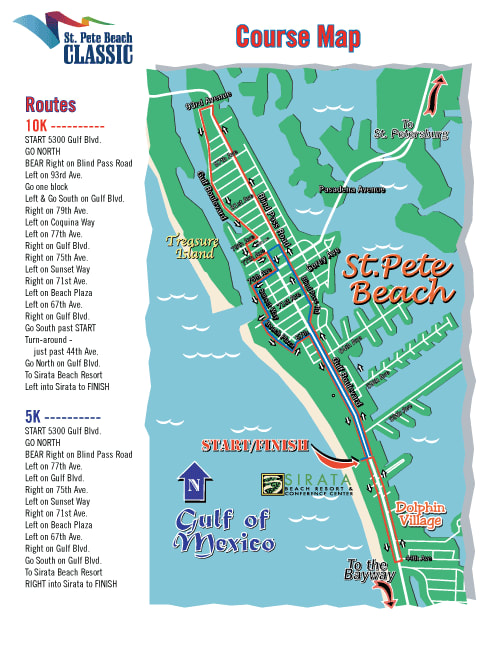 St Pete Beach Classic Race Course Map