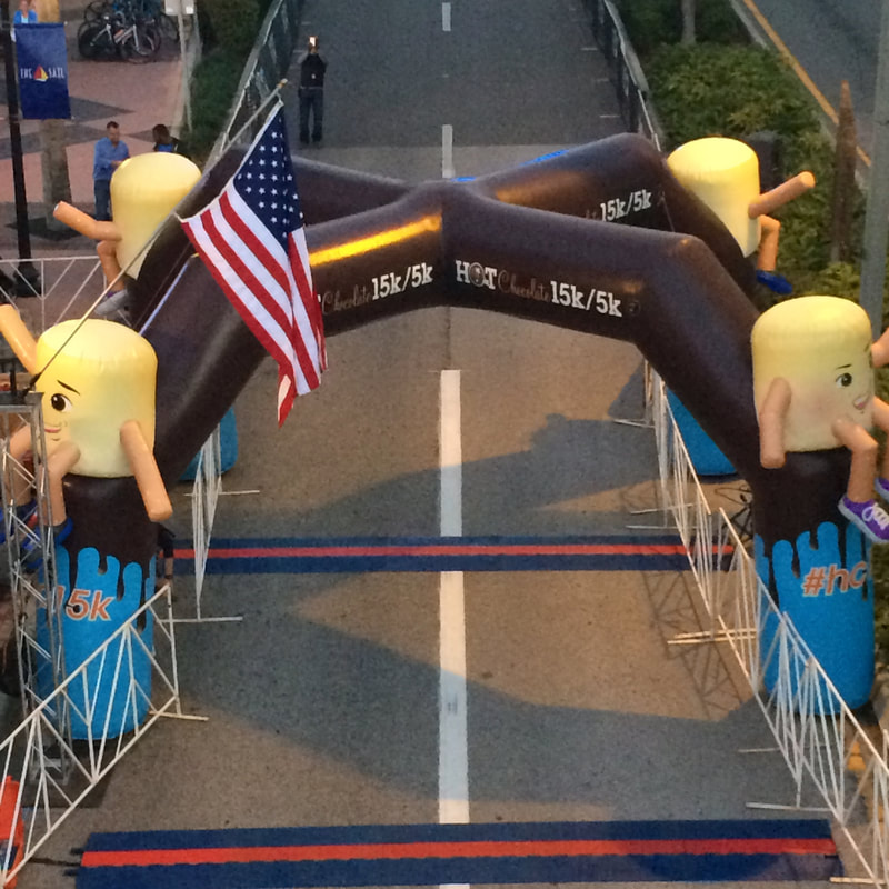 Inflatable arch for Hot Chocolate race in Tampa, FL