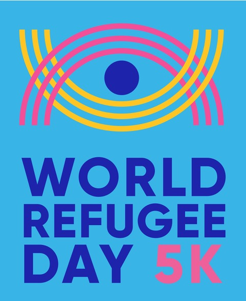 Logo for World Refugee Day 5K.